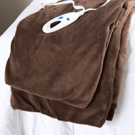 Super Soft Microplush Heated Electric Warming Throw Blanket in Chocolate Brown BMHE58198154