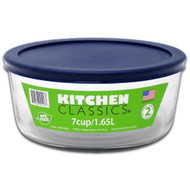 7 Cup Glass Round Storage Container w/Cover 85908