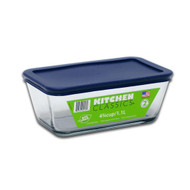 4-3/4 Cup Rectangular Glass Container w/ Cover 85912