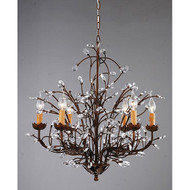 Antique Bronze 6-light Crystal and Iron Chandelier AB6LCIC26791