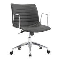 Black Mid-Back Modern Mid-Century Style Comfortable Office Chair CMOF51184601