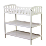 White Baby Diaper Changing Table with 1-inch Thick Changing Pad DOMECW6901