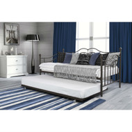 Twin size Daybeds with Trundle Bed in Brushed Bronze Metal Finish DTDB5819815