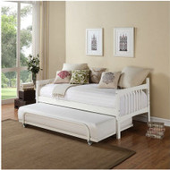 Twin size Daybed in White Wood Finish - Trundle Sold Separately WDBT519841
