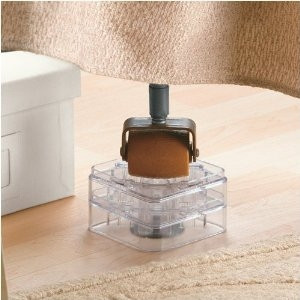 Clear Bed Risers Set Of 8 Stack Able Interlocking Design