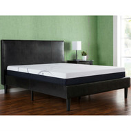 Full size Dark Brown Faux Leather Upholstered Platform Bed with Headboard FDBLPB549841