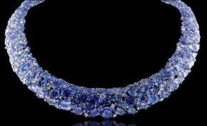 Almor Designs 175.29 Ct Tanzanite & Diamond Necklace