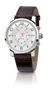 Montblanc TimeWalker TwinFly Chronograph Steel Watch 109134