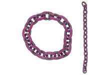 Link Chain Pink Sapphire Bracelet