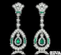 Ziva Antique Emerald Earrings