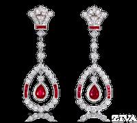 Ziva Antique Ruby Earrings