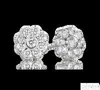 Ziva Flower Diamond Earrings