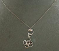 Gucci Horsebit Drops Necklace WG L.45 cm