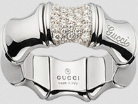 Gucci Bamboo Spring Ring WG Size 52