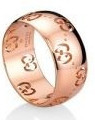 Gucci Bold Ring Rose Gold Size 54