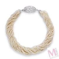 Mastoloni Signature Collection Ribbon Necklace N4042-8W