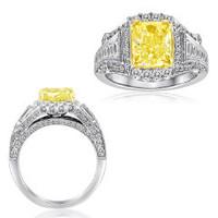18K WG Yellow Diamond Ring NR265WY-18K