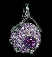 "Mousson Atelier Cosmos Collection Pendant ""UFO"" Amethyst 2.10 ct P0038-0/3"