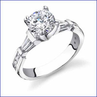 Gregorio 18K WG Diamond Engagement Ring R-103