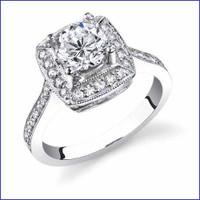 Gregorio 18K WG Diamond Engagement Ring R-238-1
