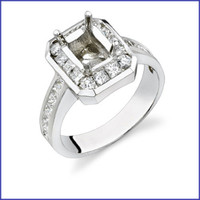 Gregorio 18K WG Diamond Engagement Ring R-306