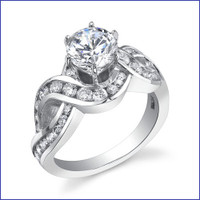 Gregorio 18K WG Diamond Engagement Ring R-452