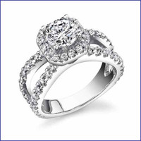 Gregorio 18K WG Diamond Engagement Ring R-466-2