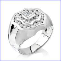 Gregorio 18K WG Men's Diamond Ring SA-1487