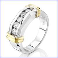 Gregorio 14K 2 Tone Men's Diamond Ring SA-3900
