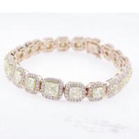 12.61 Carat Pink Diamond Bracelet SEB16102APY