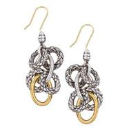 18Kt/Sterling Silver Traversa Dangling Earring