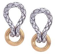 18Kt/Sterling Silver Traversa Looped Earring