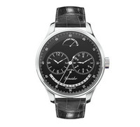 Pineider Dual Time Watch With Black Dial