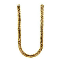 Herco 18k Yellow Gold Byzantine 11.5mm Necklace 18''