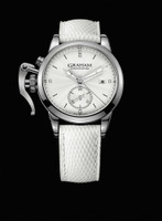 Graham London Chronofighter 1695 Romantic White Steel Watch 2CXMS.S04A