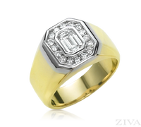 Ziva Emerald Cut Diamond Ring for Men