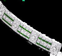 Ziva Antique Emerald Bracelet
