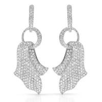 18k WG 12.12ct Diamond Dangle Earrings