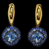 Mousson Atelier Riviera Gold Aquamarine Earrings E0074-4/11