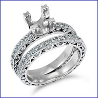 Gregorio Platinum Engagement Diamond Band & Ring H-849