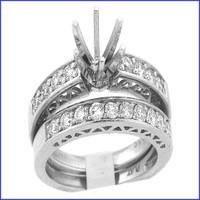 Gregorio Platinum Diamond Engagement Ring & Band R-117