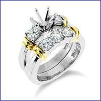 Gregorio 14K WG Diamond Engagement Ring & Band R-174