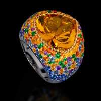 Mousson Atelier Riviera Gold Citrine Ring R0040-3/10