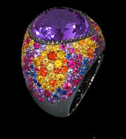 Mousson Atelier Riviera Gold Amethyst Ring R0040-3/18