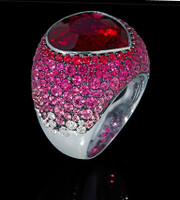 Mousson Atelier Riviera Gold Red Tourmaline Ring R0040-3/19