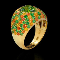 Mousson Atelier Riviera Gold Chrisolite Ring R0073-0/4