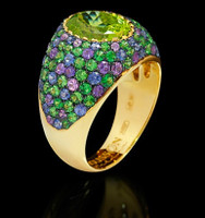 Mousson Atelier Riviera Gold Chrisolite Ring R0074-0/20