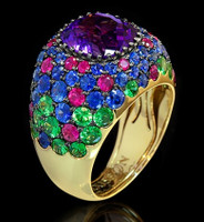 Mousson Atelier Riviera Gold Amethyst Ring R0074-0/7