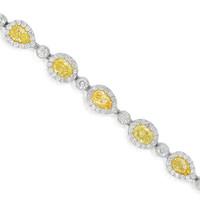 15.89ct Fancy Yellow Diamond Bracelet