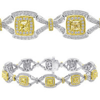 3.85 Carat Fancy Diamond Bracelet